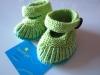 Merino Babyschuhe grün-türkis